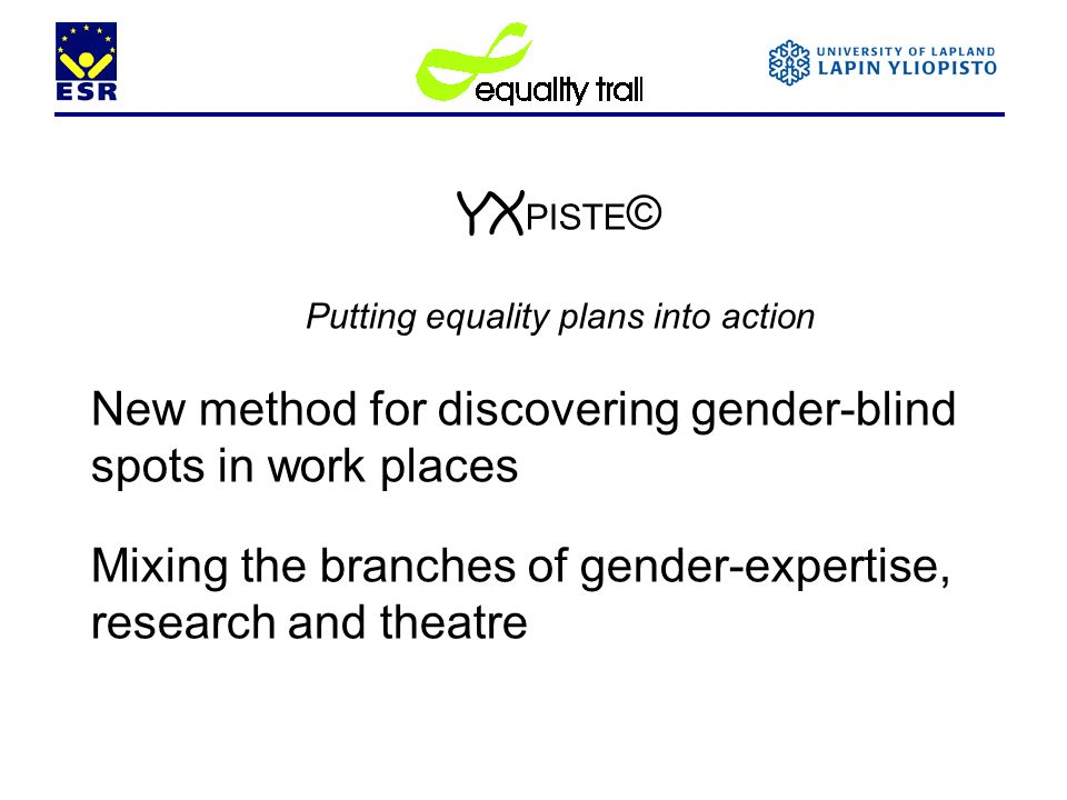 Putting equality plans into action
