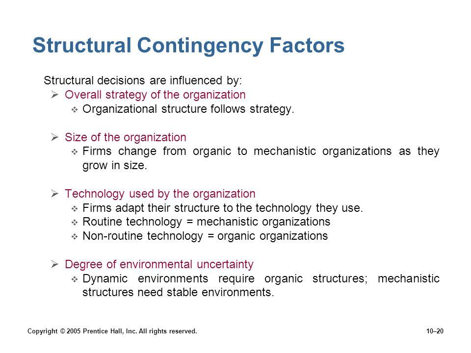 Structural Contingency Factors
