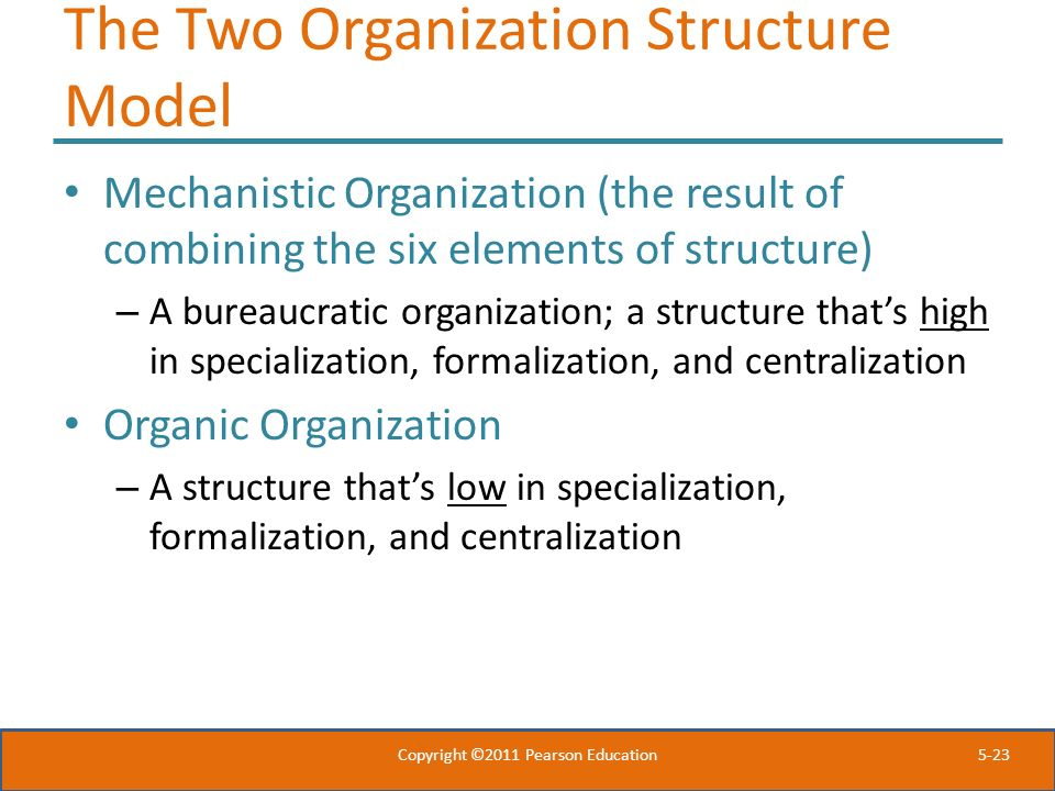 The Two Organization Structure Model