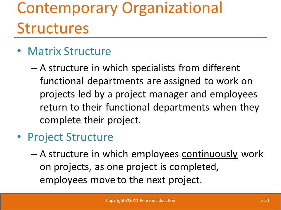 Contemporary Organizational Structures