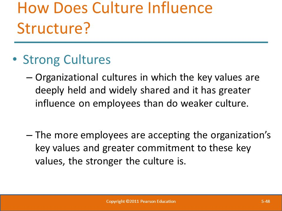 How Does Culture Influence Structure