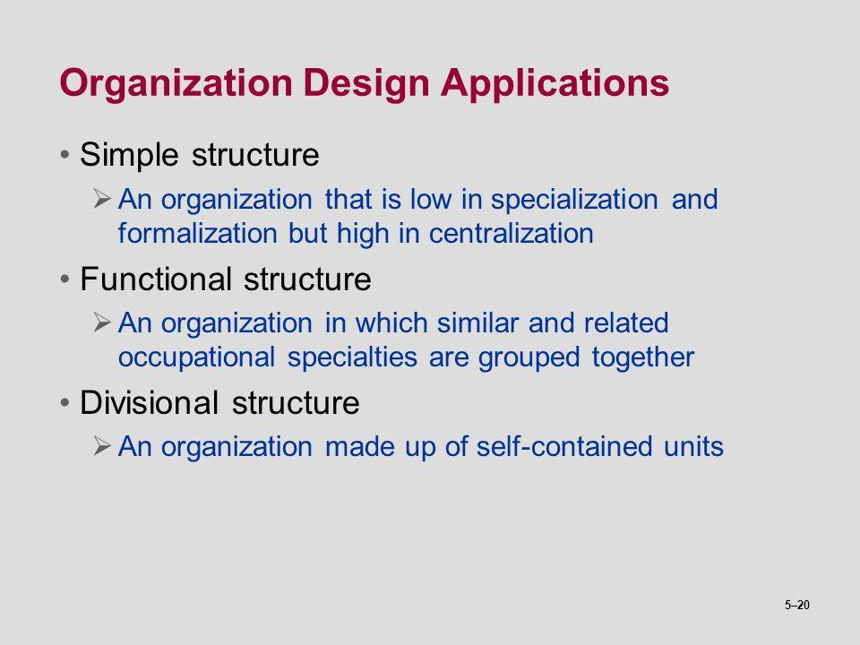Organization Design Applications