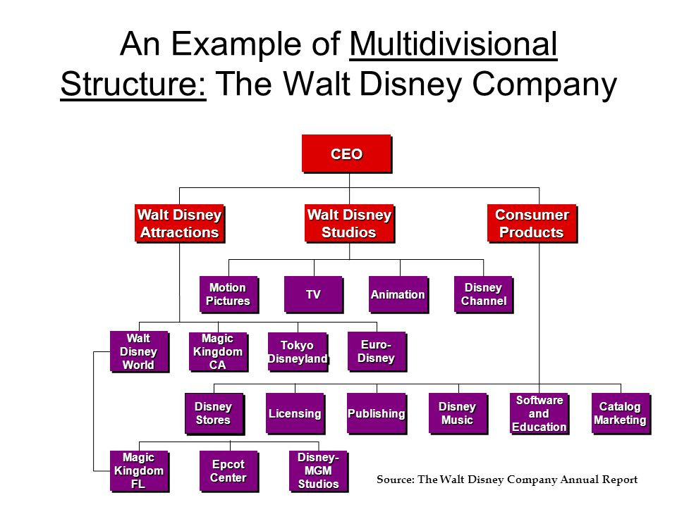 Disney Organizational Structure
