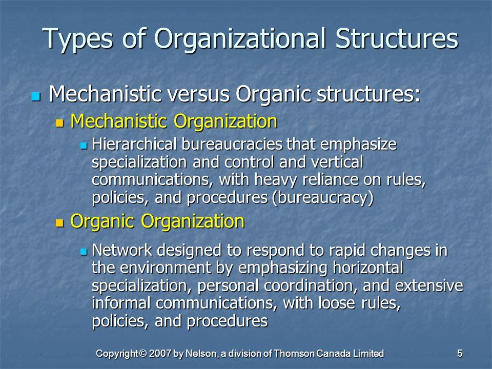 mechanistic versus organic organisational structures Managing mechanistic and organic structure in managers must decide how mechanistic versus how organic to make mechanistic, organic, organization structure.