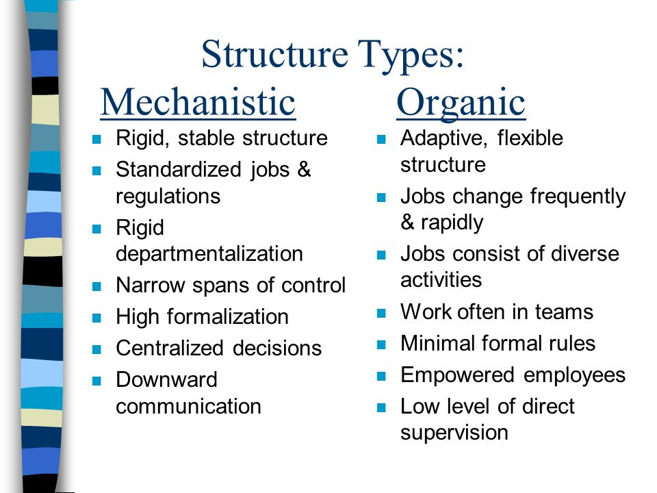 Structure Types: Mechanistic Organic