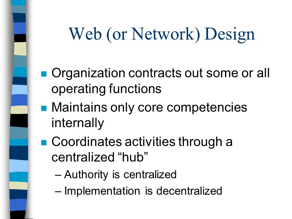 Web (or Network) Design