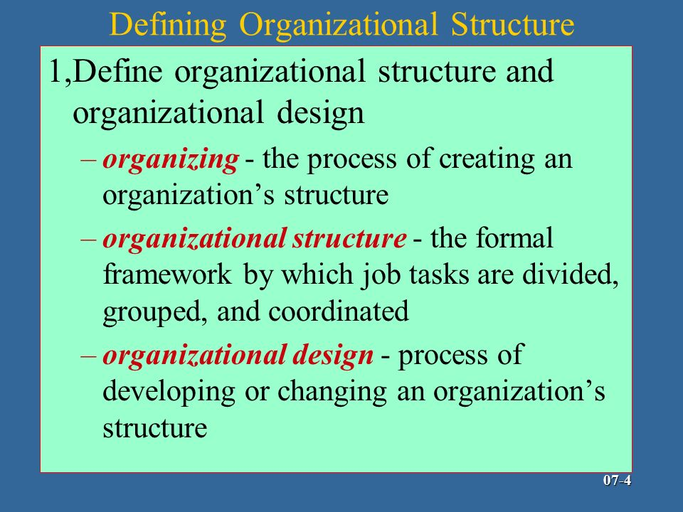define functional organizations and product organization Chap 3 : organizational structure  • functional organization (u-form)  - could you define different types of staff and personnel inside the.