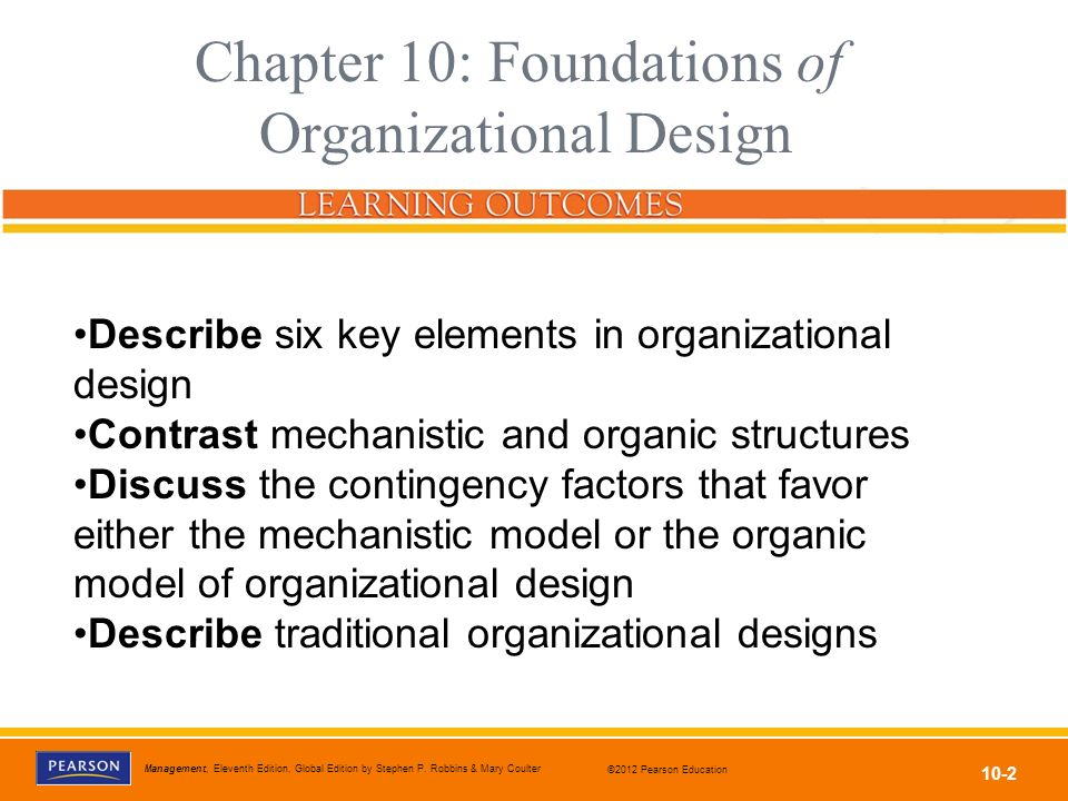 Chapter 10: Foundations of Organizational Design