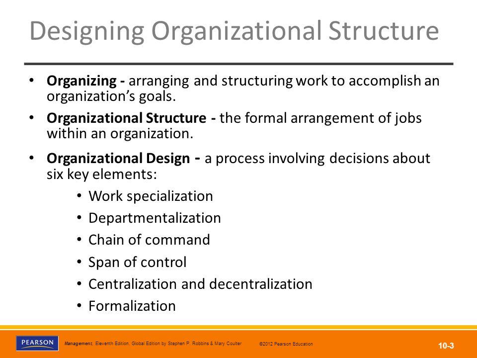 Designing Organizational Structure