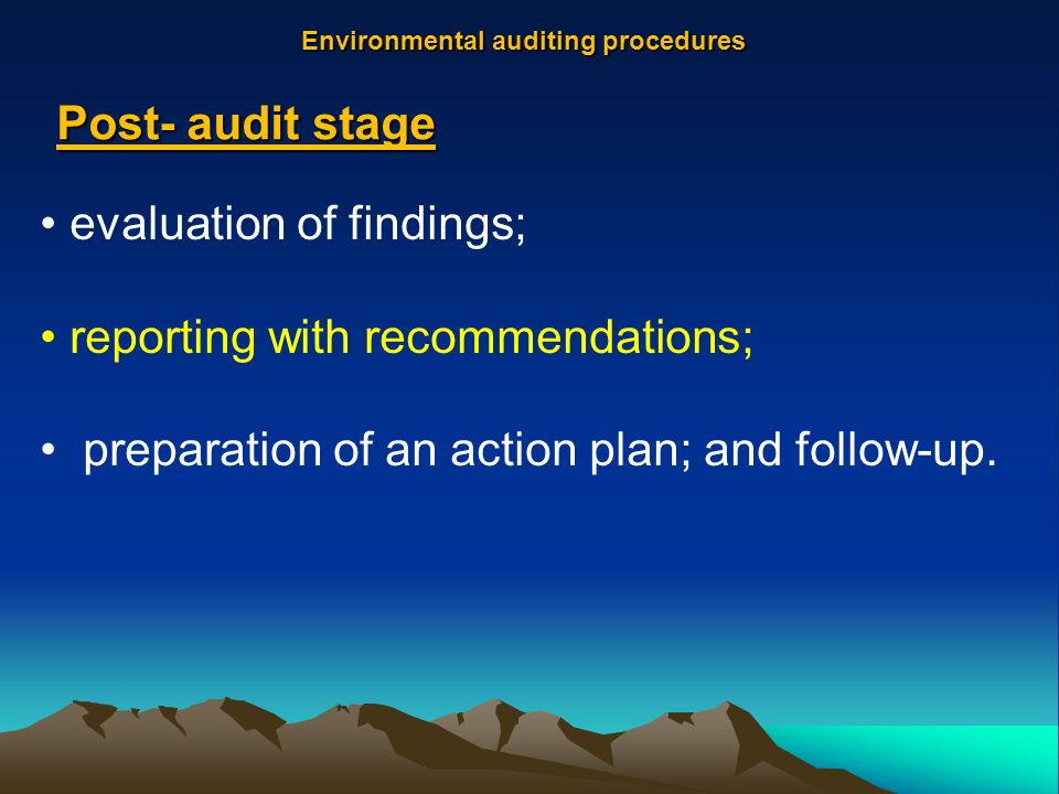 what is environmental audit pdf