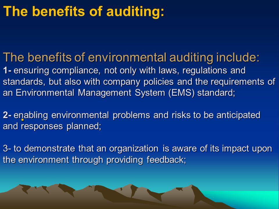 The benefits of auditing: