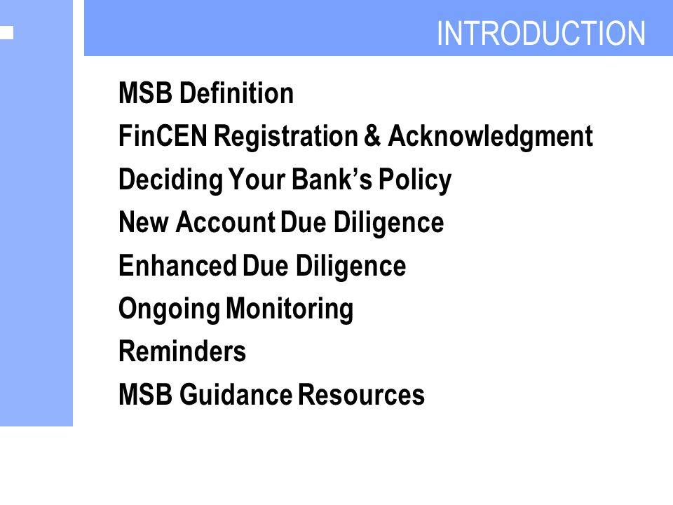 Best Practices for Banking MSBs - ppt video online download