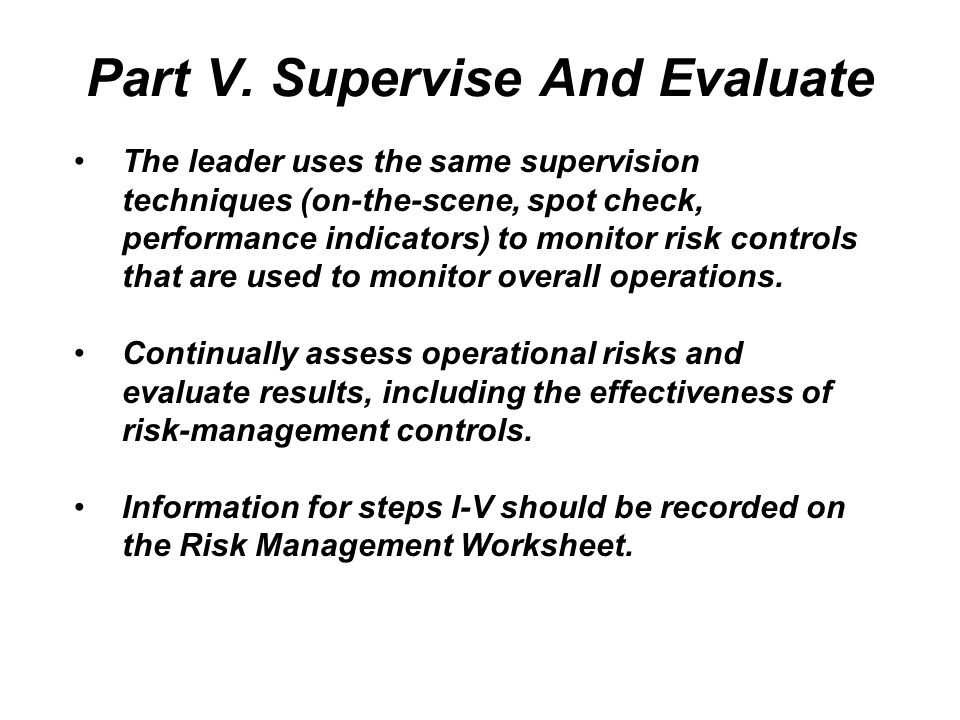 Operational Risk Management Worksheet - The Best and Most ...