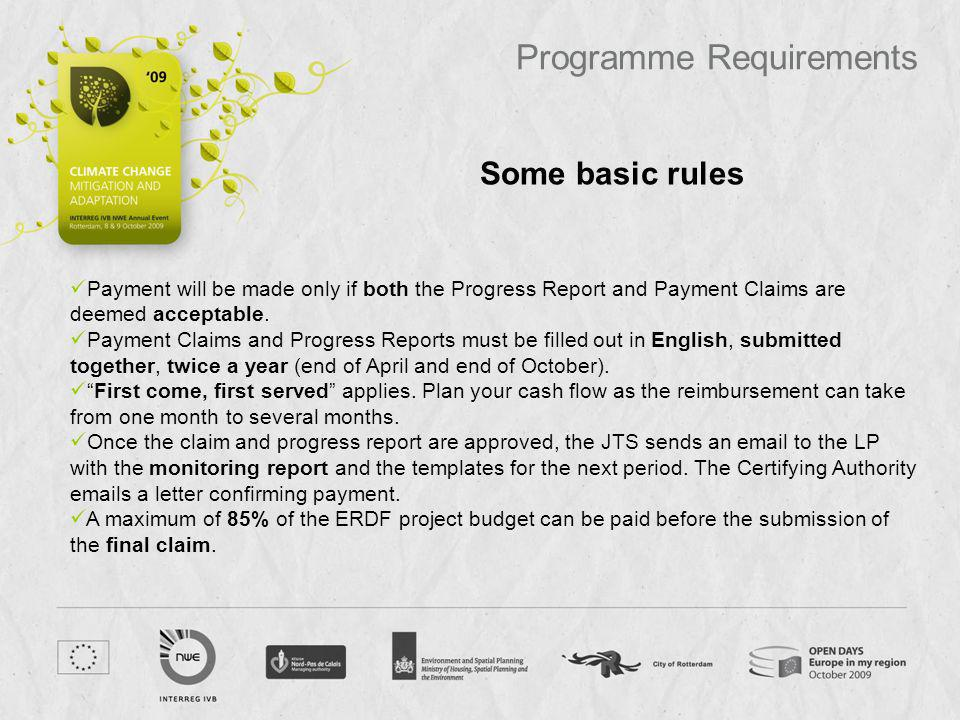 Programme Requirements