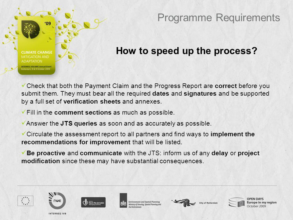 How to speed up the process