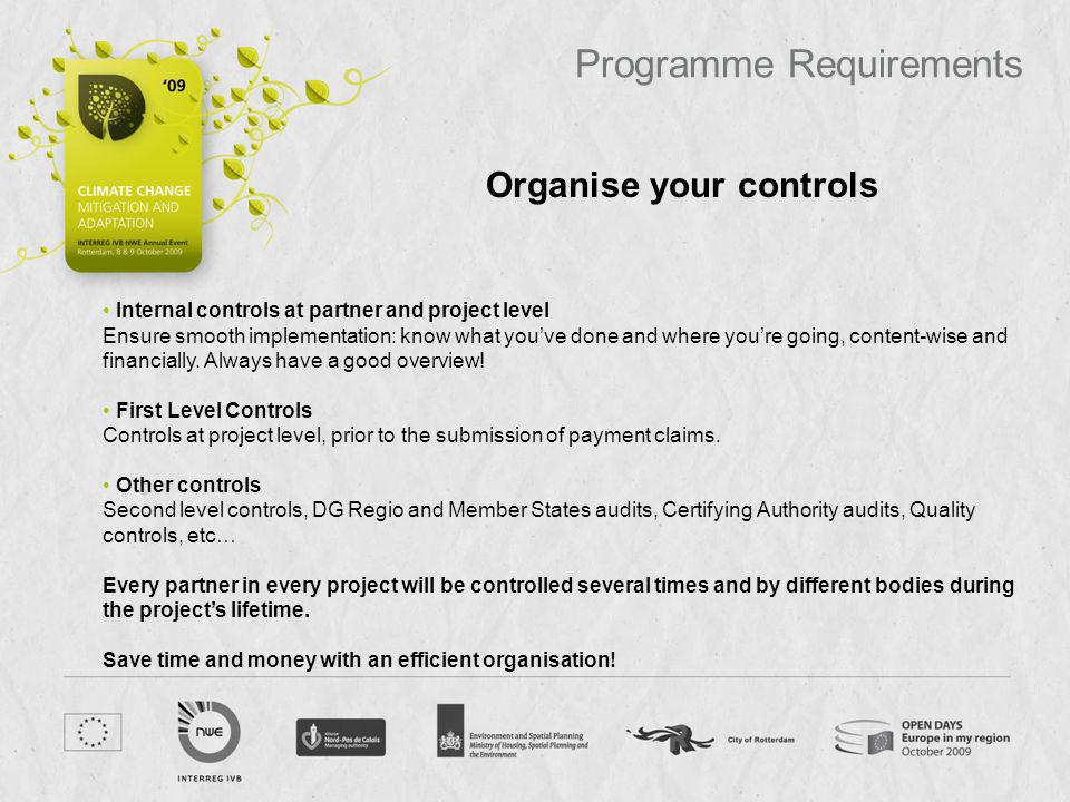 Organise your controls