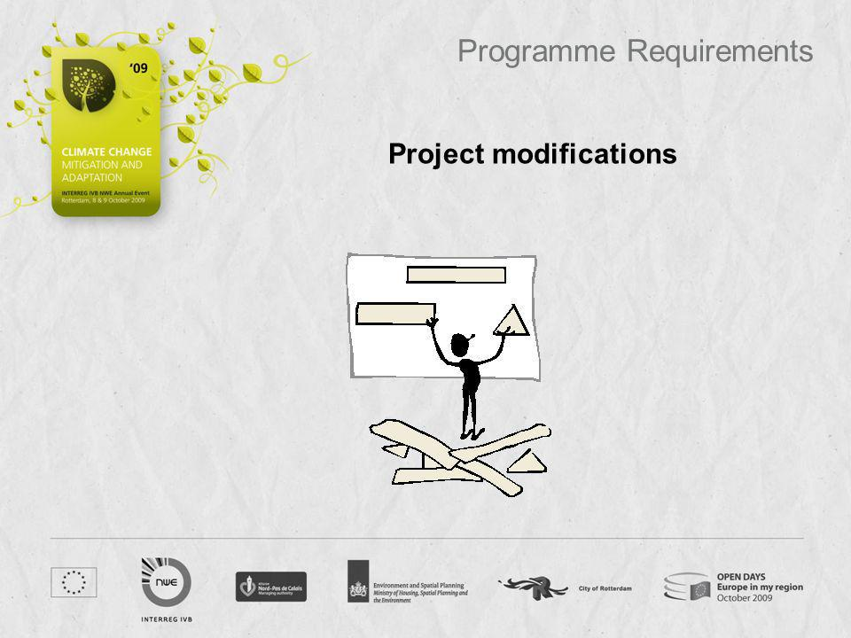 Project modifications