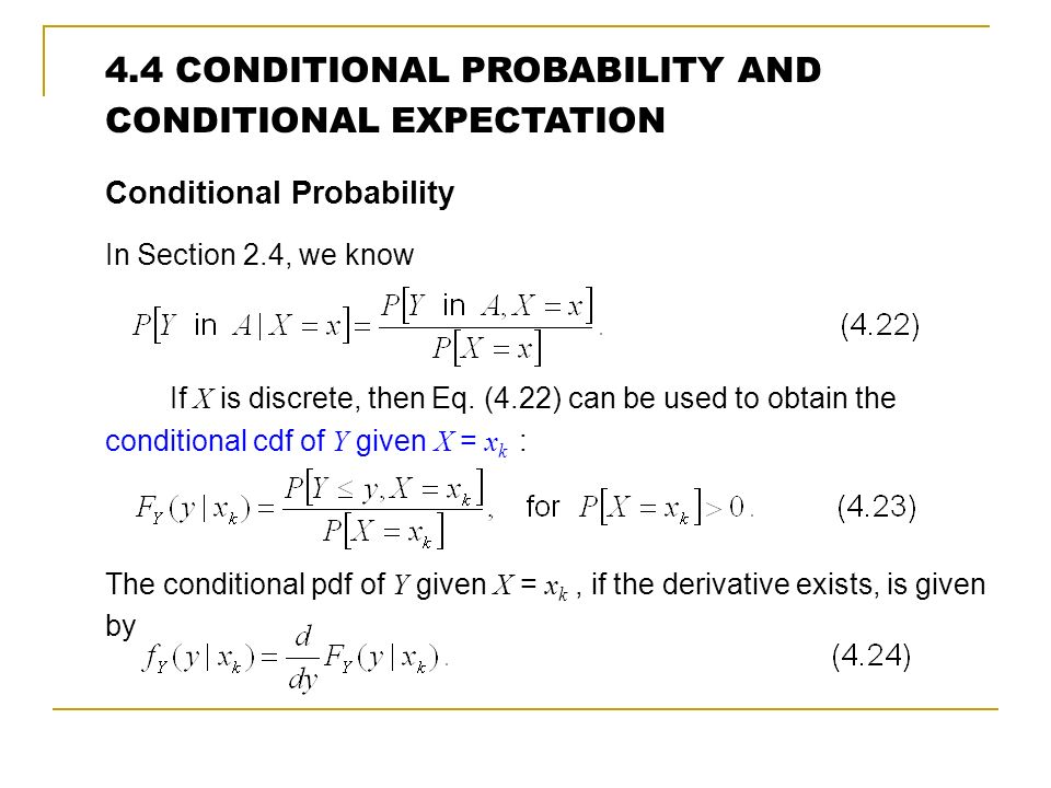 probability is a conditional expectation with two