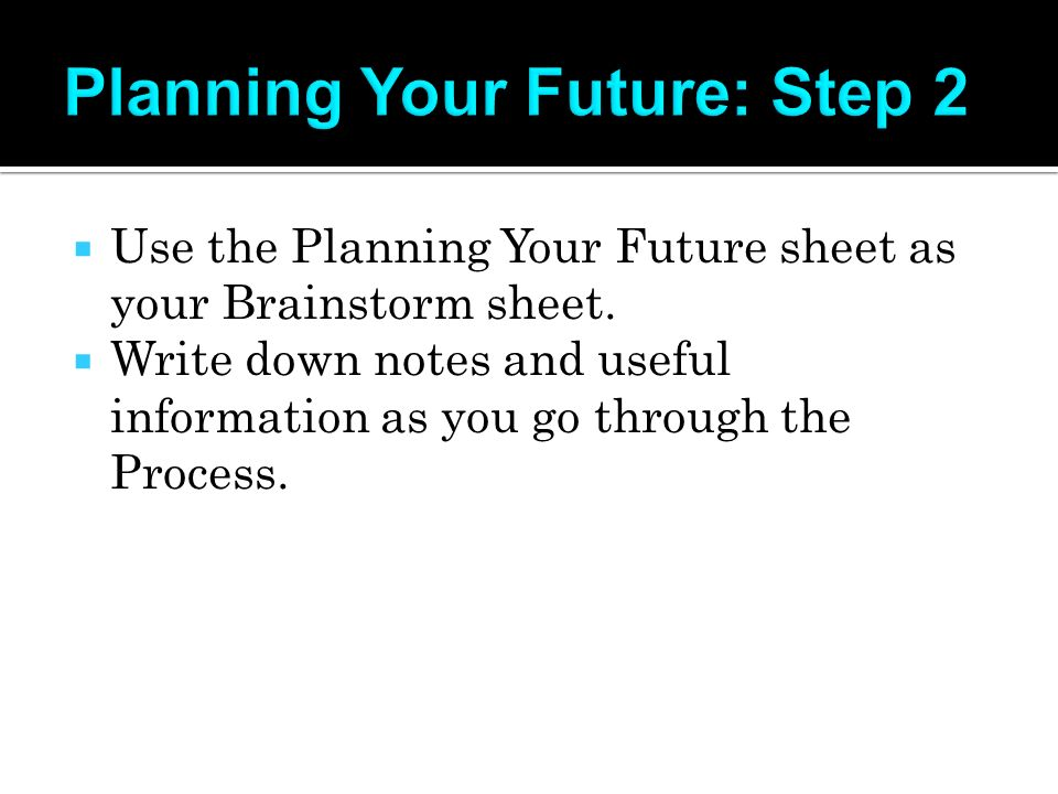 Okay you re in high school but where do you go from for Future planner online