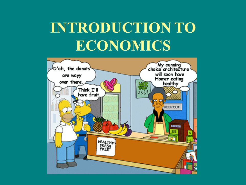 economics introduction Introduction to basic economics formulas economics mathematics, economics theory march 20, 2012 1 comment one of the important tasks in economics is the evaluation of alternatives to determine which best.