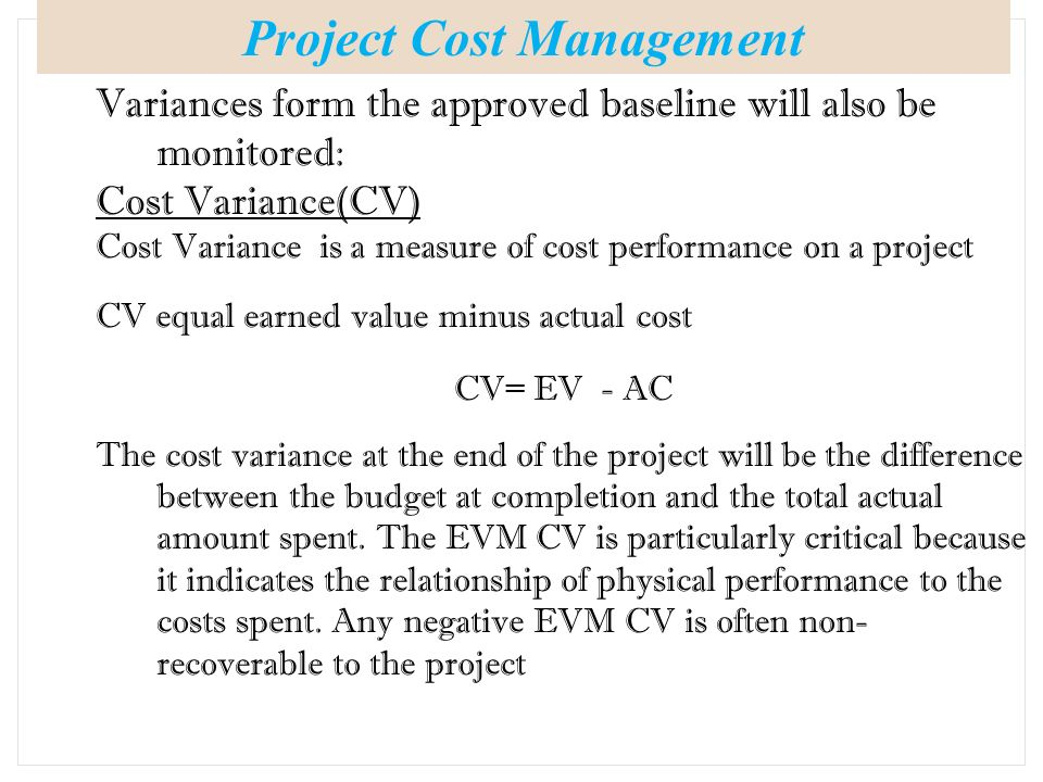 budget cost managment Budgeting and cost control comprise the estimation of costs, the setting of an  agreed budget, and management of actual and forecast costs against that budget.