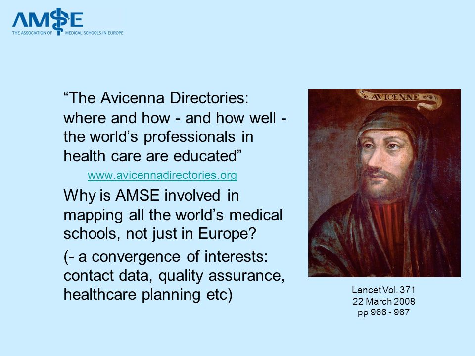 The Avicenna Directories: where and how - and how well - the world's professionals in health care are educated