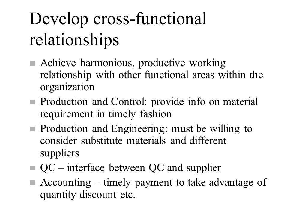 Functional area interrelationships short essay