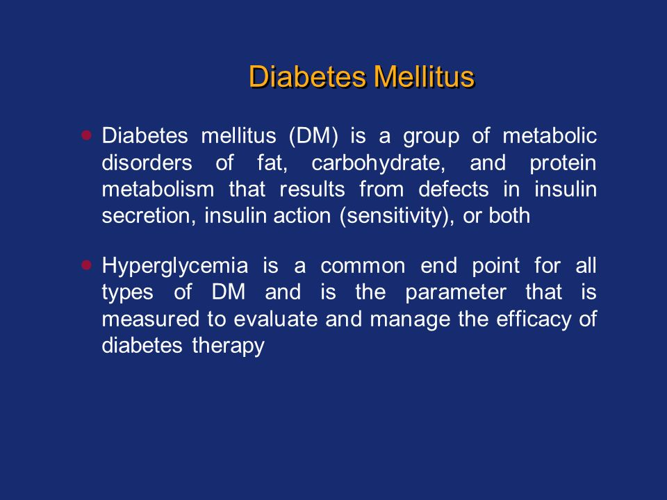 a description of diabetes mellitus disorder of metabolism Diabetes definition diabetes mellitus is a group of metabolic type 2 diabetes is not a mild disease documents similar to case report metabolic syndrome.