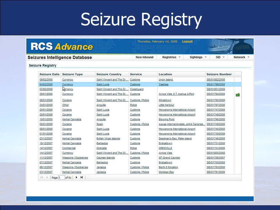Seizure Registry