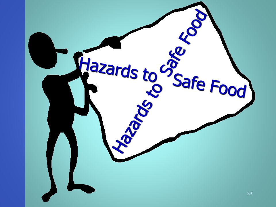 hazards to food safety Each sheet details the characteristics of the hazard, the human foodborne illness,  the role of food as well as the main elements related to domestic hygiene.
