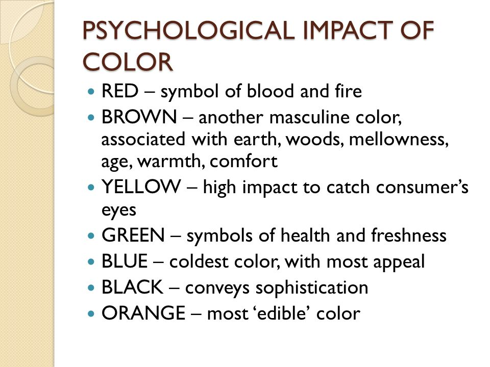 the impact of color in consumer Substantial research shows why color matters and how color plays a  consumer color preferences why color matters  white, jan v, color for impact.