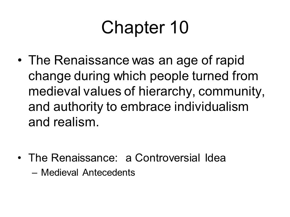 individualism during the renaissance Problematic individualism in the literature of the west, the difference between it  and  individual existing at the juncture of the medieval and the renaissance.