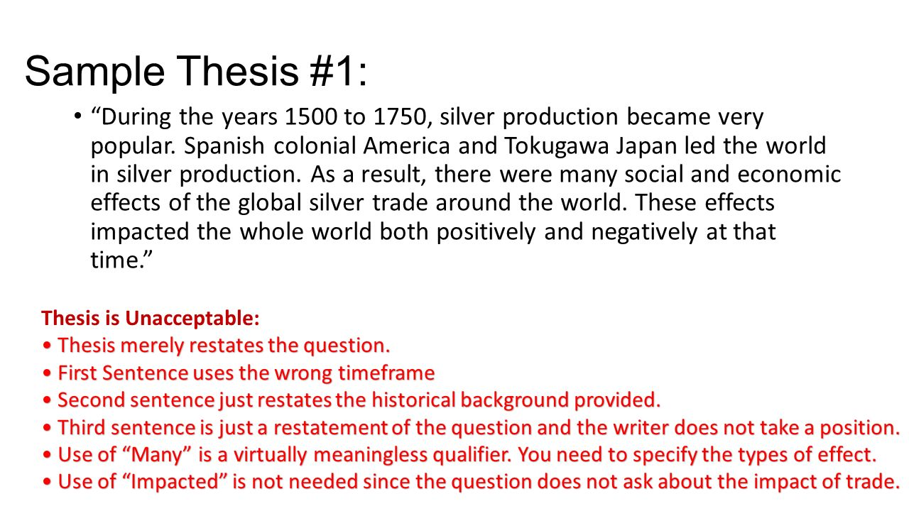 silver dbq essay 2006 dbq using the documents analyze the social and economic effects of the global flow of silver from the mid-sixteenth century to the nothing in the essay.