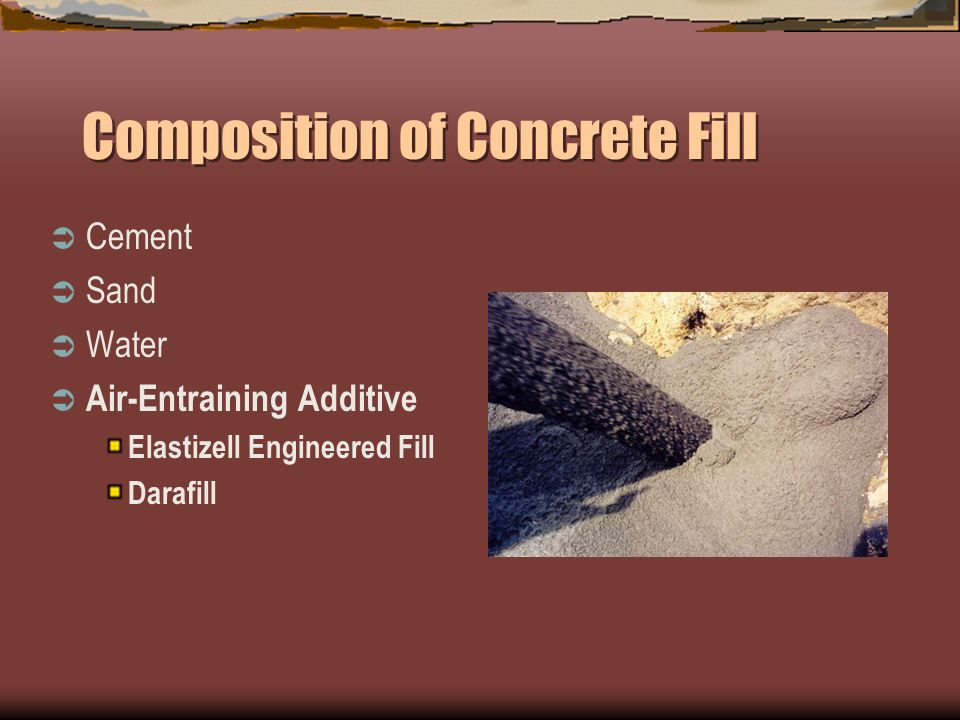 Low Density Fill Concrete : Controlled low strength material clsm 'flowable fill