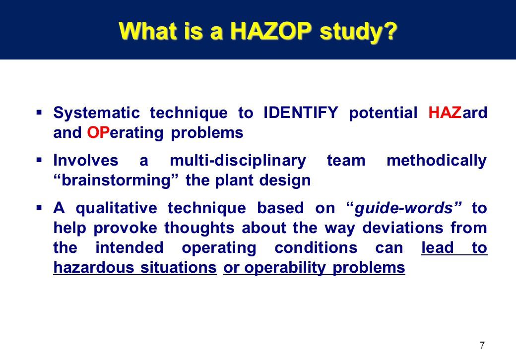 What Is HAZOP? | Graphic Products