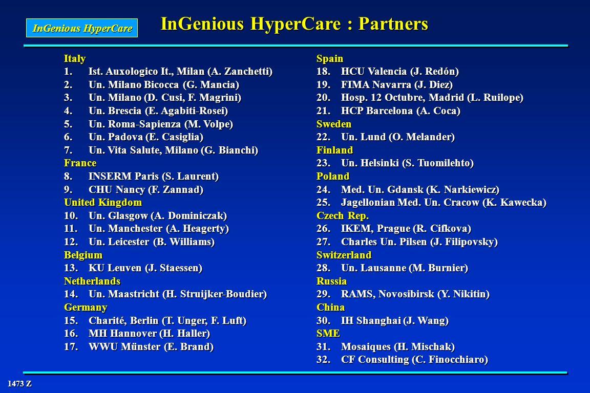 InGenious HyperCare : Partners