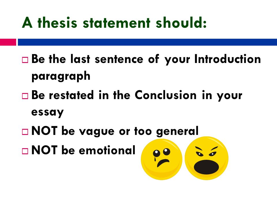 do i restate my thesis in the conclusion Pamphlet: writing conclusions in the past, you may have been told that your conclusion should summarize what you have already said by restating your thesis and main points it is often helpful to restate your argument to use this strategy, ask yourself, how does my argument affect how i approach the text or issue.
