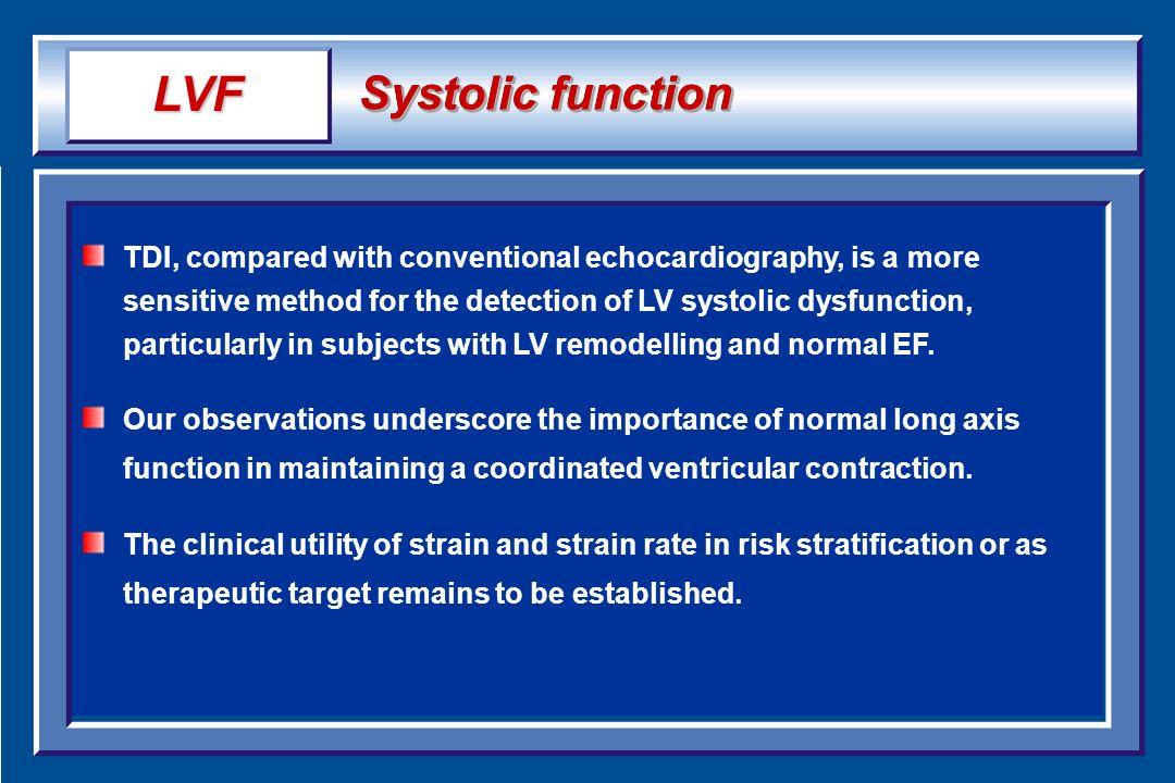 LVF Systolic function.