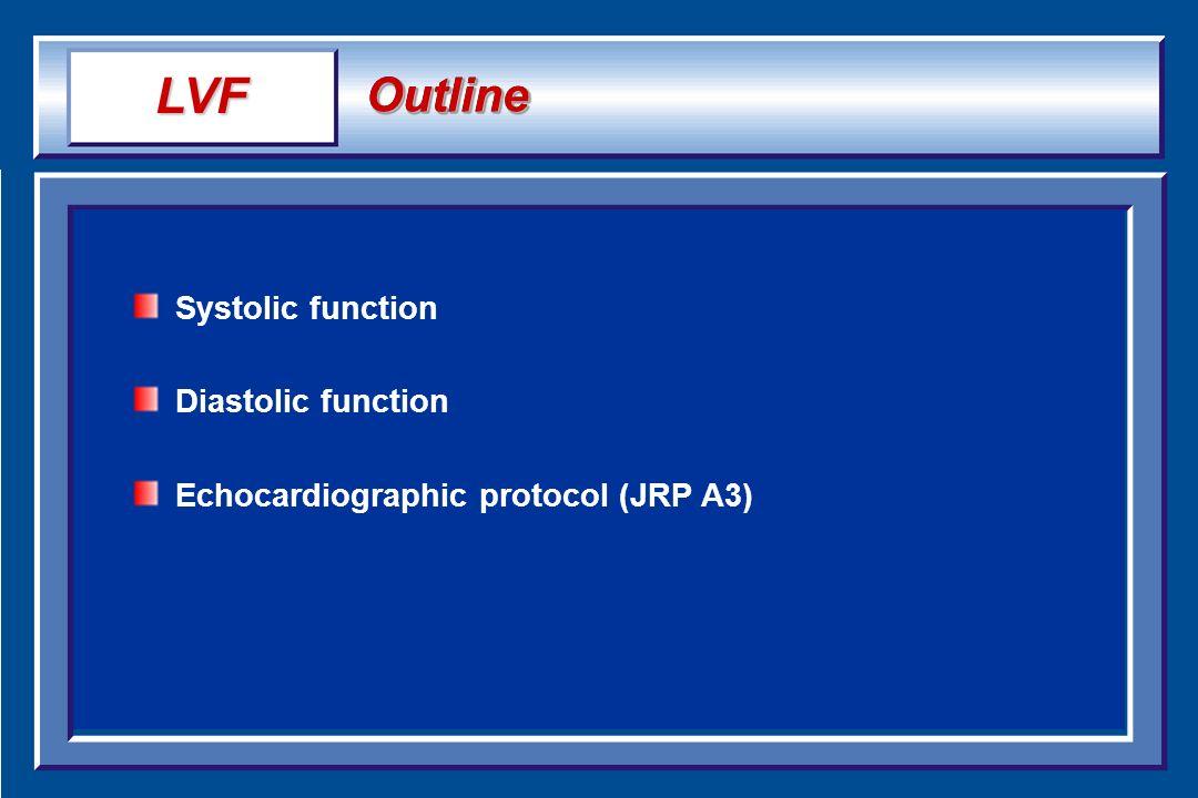 LVF Outline Systolic function Diastolic function