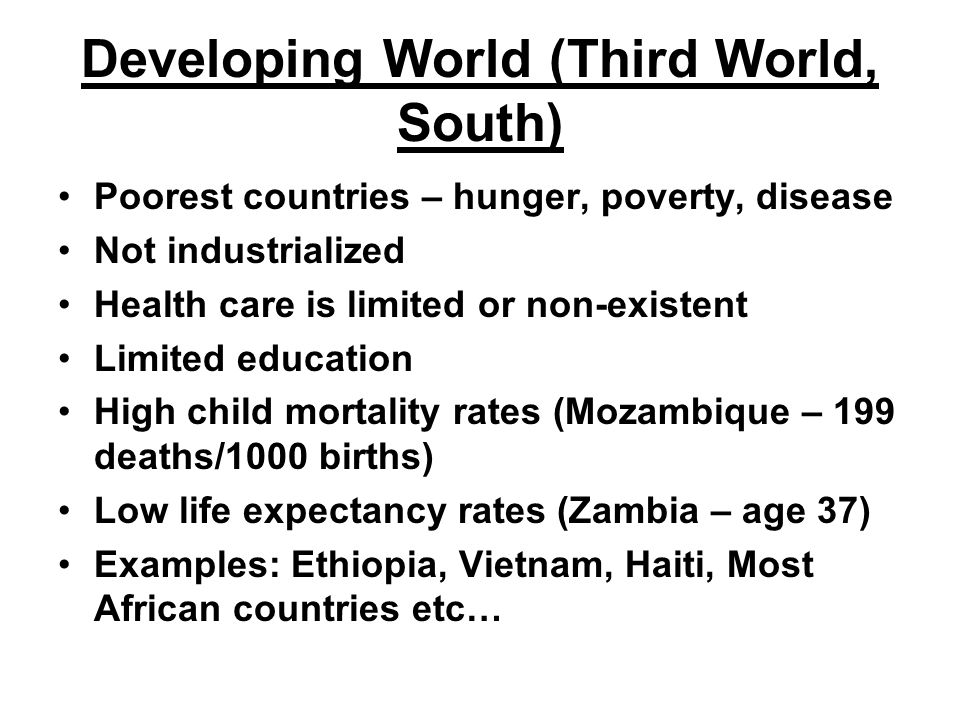 Developing World (Third World, South)