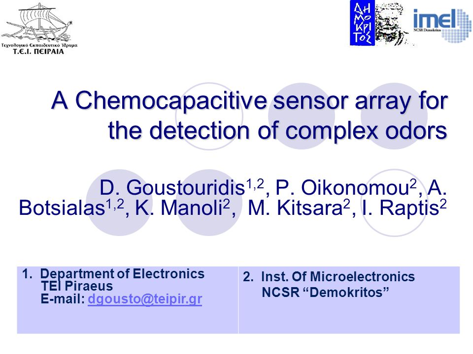 A Chemocapacitive sensor array for the detection of complex odors