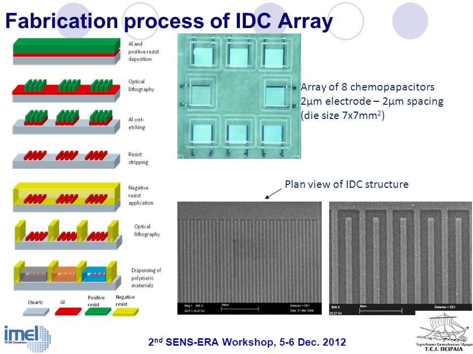 Fabrication process of IDC Array
