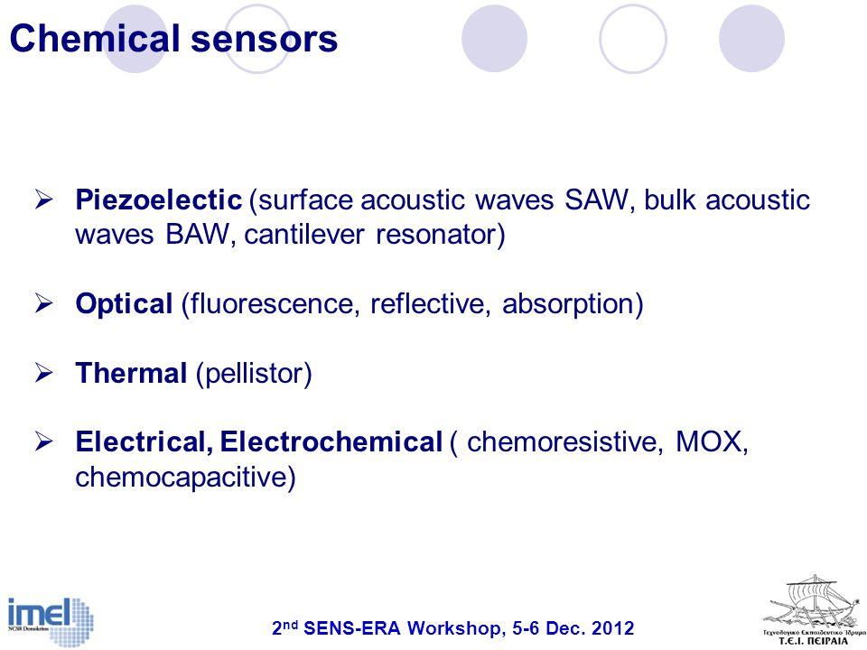 2nd SENS-ERA Workshop, 5-6 Dec. 2012