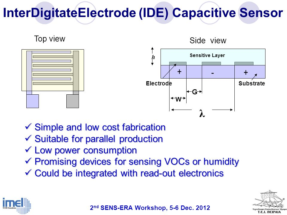 InterDigitateElectrode (IDE) Capacitive Sensor