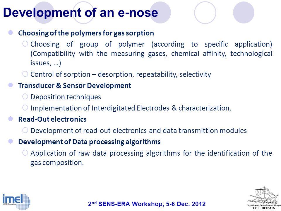 Development of an e-nose