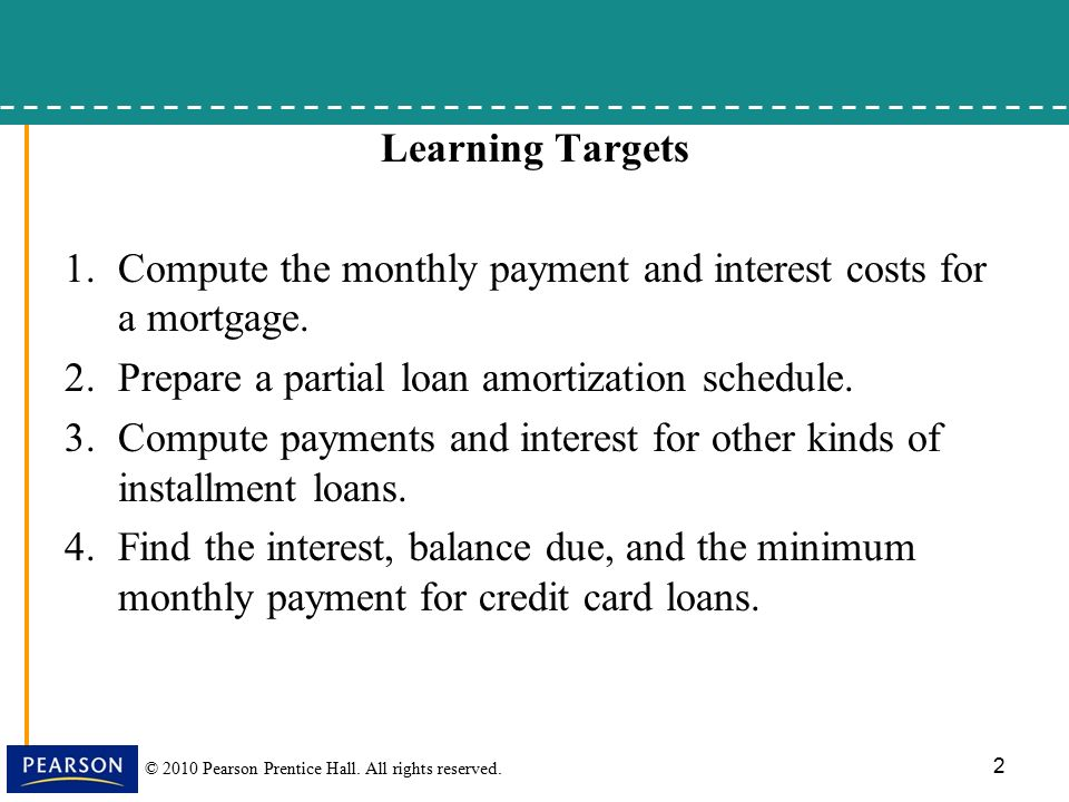 8.5, Installment Loans, Amortization, And Credit Cards - Ppt Download
