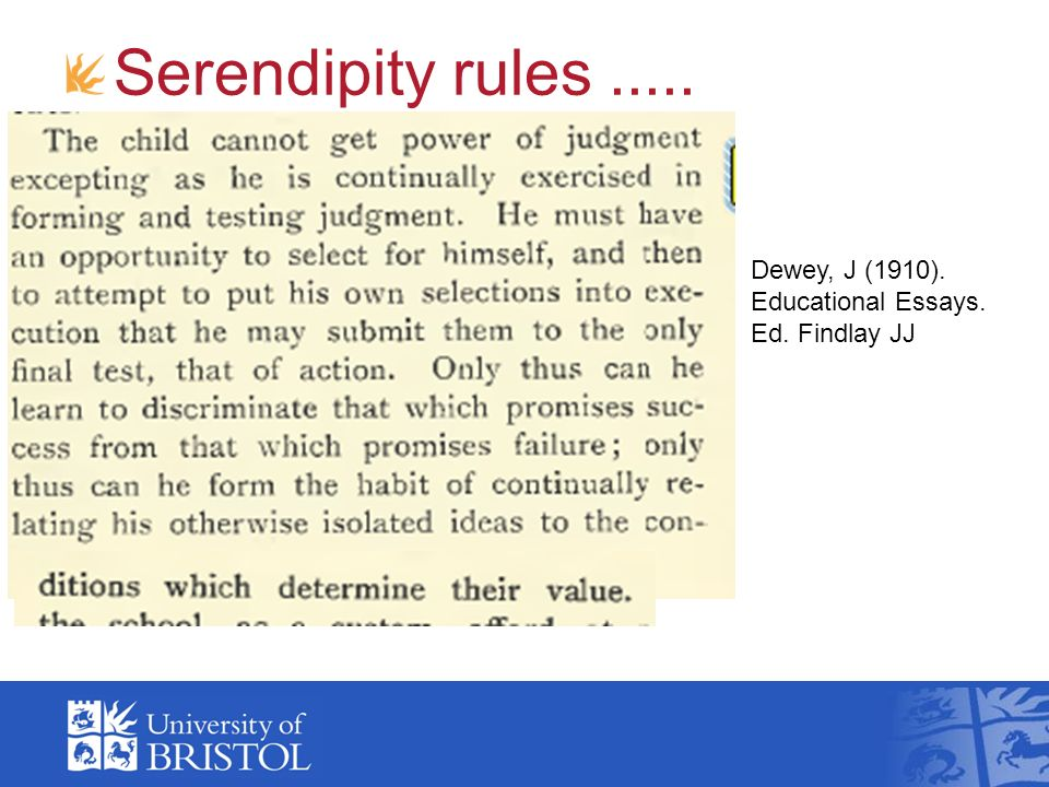 messages in the tea leaves ppt video online  serendipity rules dewey j 1910 educational essays