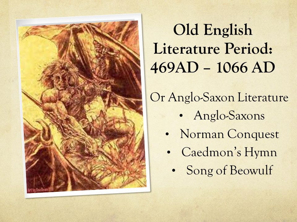 introduction to anglo saxon literature beowulf