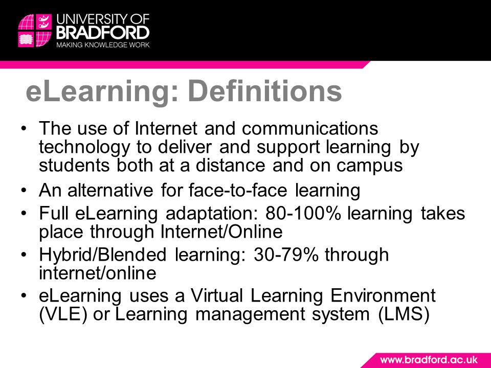 eLearning: Definitions