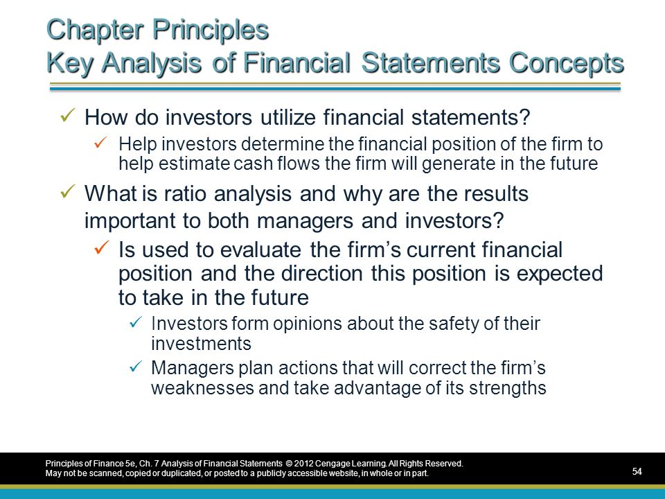 concept questions financial statement analysis and Business builder 6 how to analyze your business using financial ratios  • the purpose of financial ratio analysis 4  financial statements is by using.